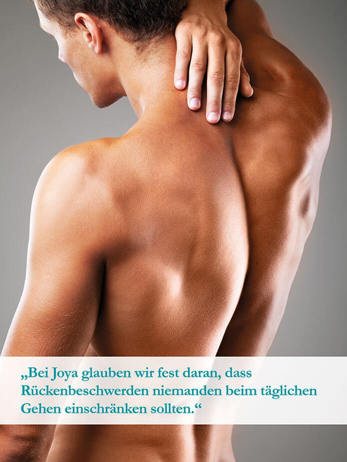 Der Rücken - Joya Schuhe, Dein Rücken freut sich